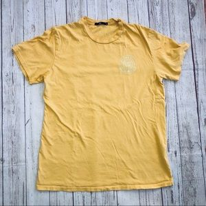 Obey yellow short sleeve tee size large